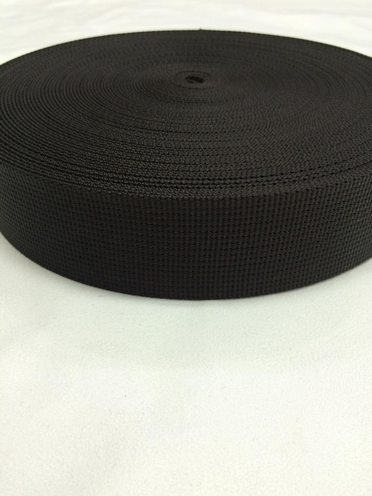 ナイロン 12本トジ織 30mm 1.5㎜厚 こげ茶 1m