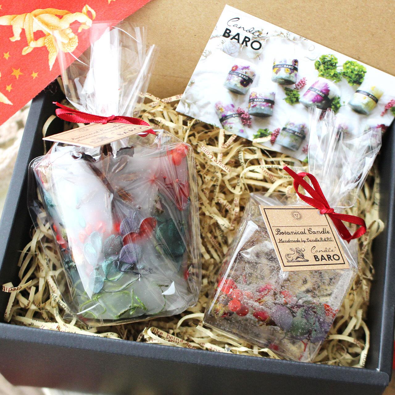 2020クリスマス☆箱入り☆紙袋付き☆ミニボタニカルキャンドルセット