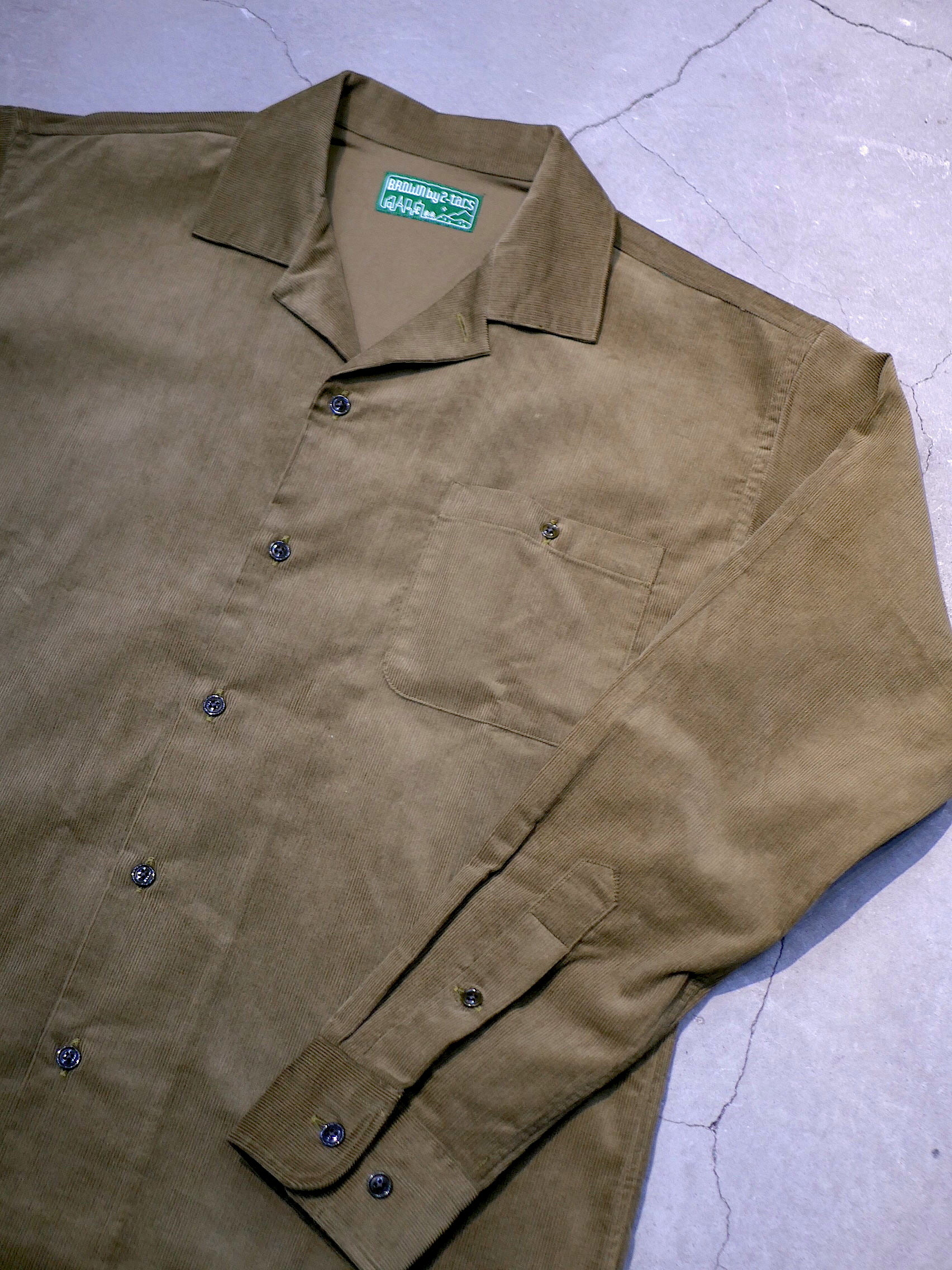 BROWN by 2-tacs / OPEN COLLER  SHIRTS