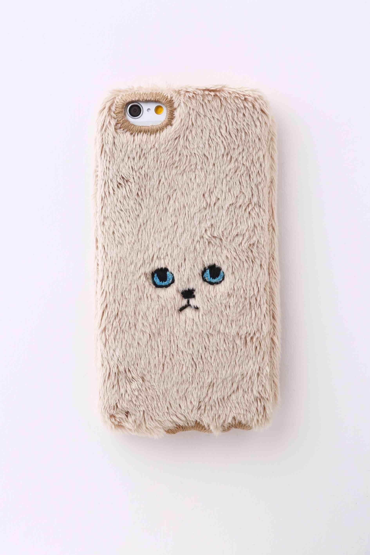 【iPhone7&iPhone6/6S対応】ネコiPhoneカバー【ゴールド】