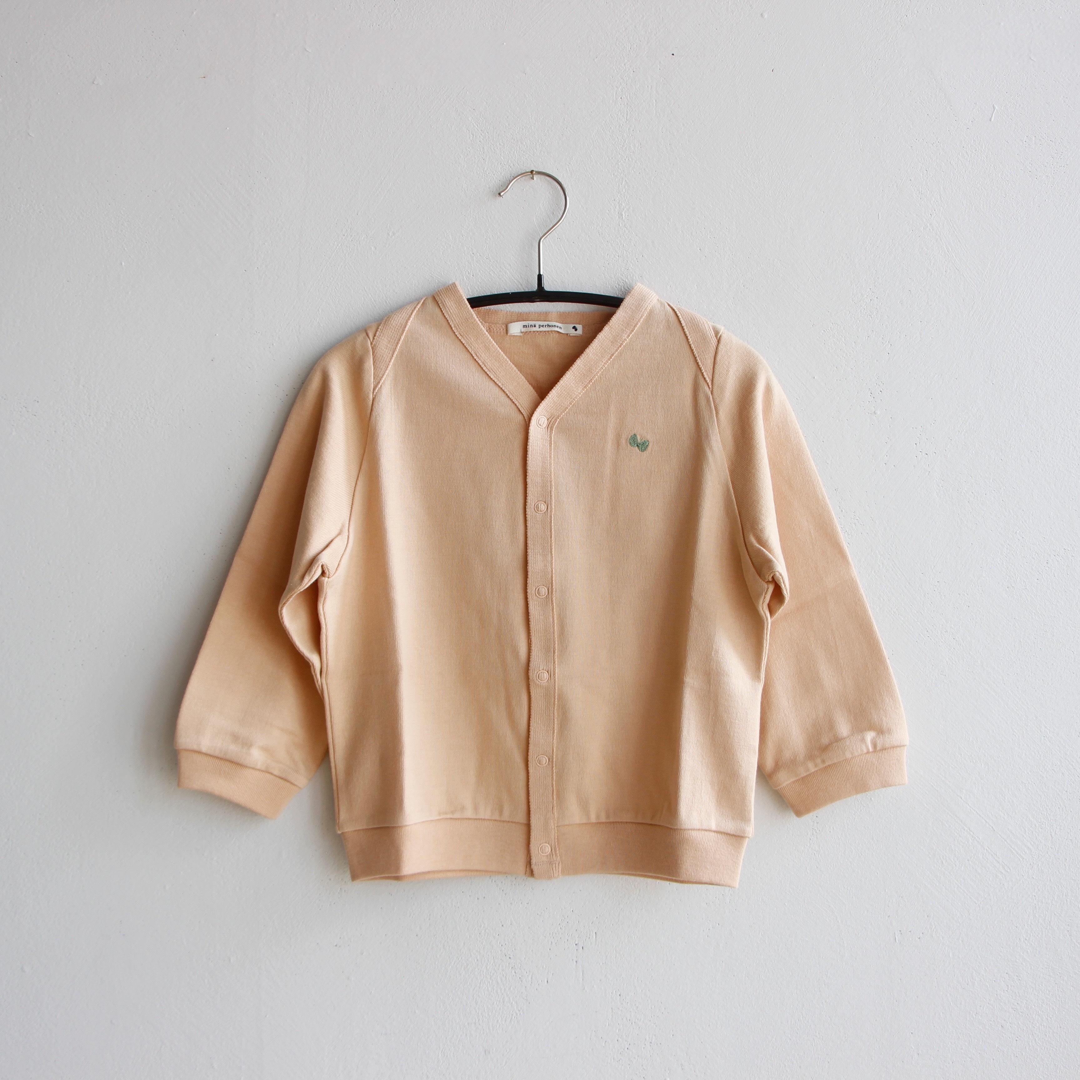 《mina perhonen 2020AW》zutto カーディガン / pink beige / 80-100cm