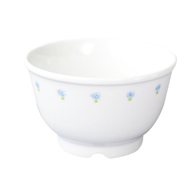 【1742-1050】強化磁器 10.5cm こども汁碗 花の冠(ブルー)