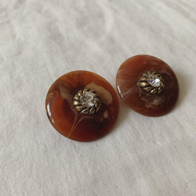 vintage marble earring