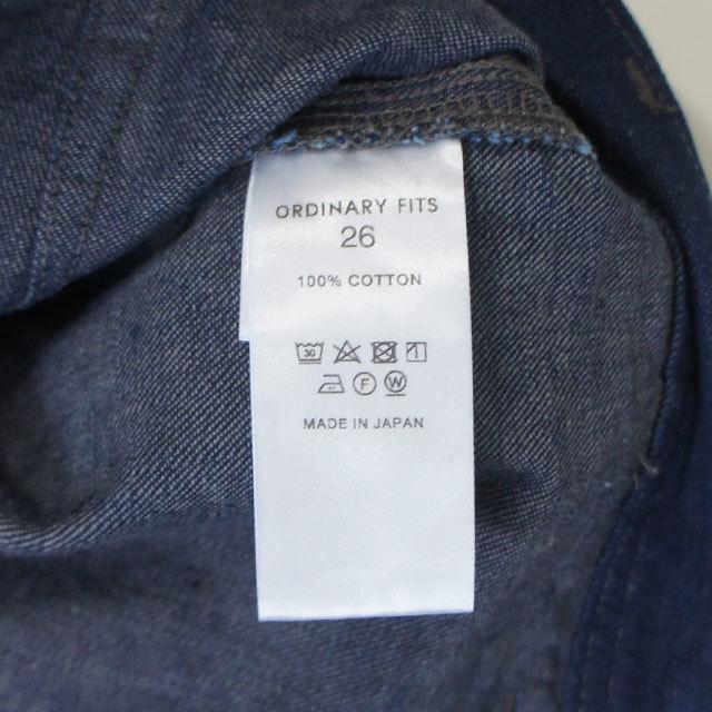 ORDINARYFITS オーディナリーフィッツ パイプベイカーパンツow メンズ レディース パンツ デニム ベイカー ワンウォッシュ ワイド ゆったり 通販 (品番of-p018ow)