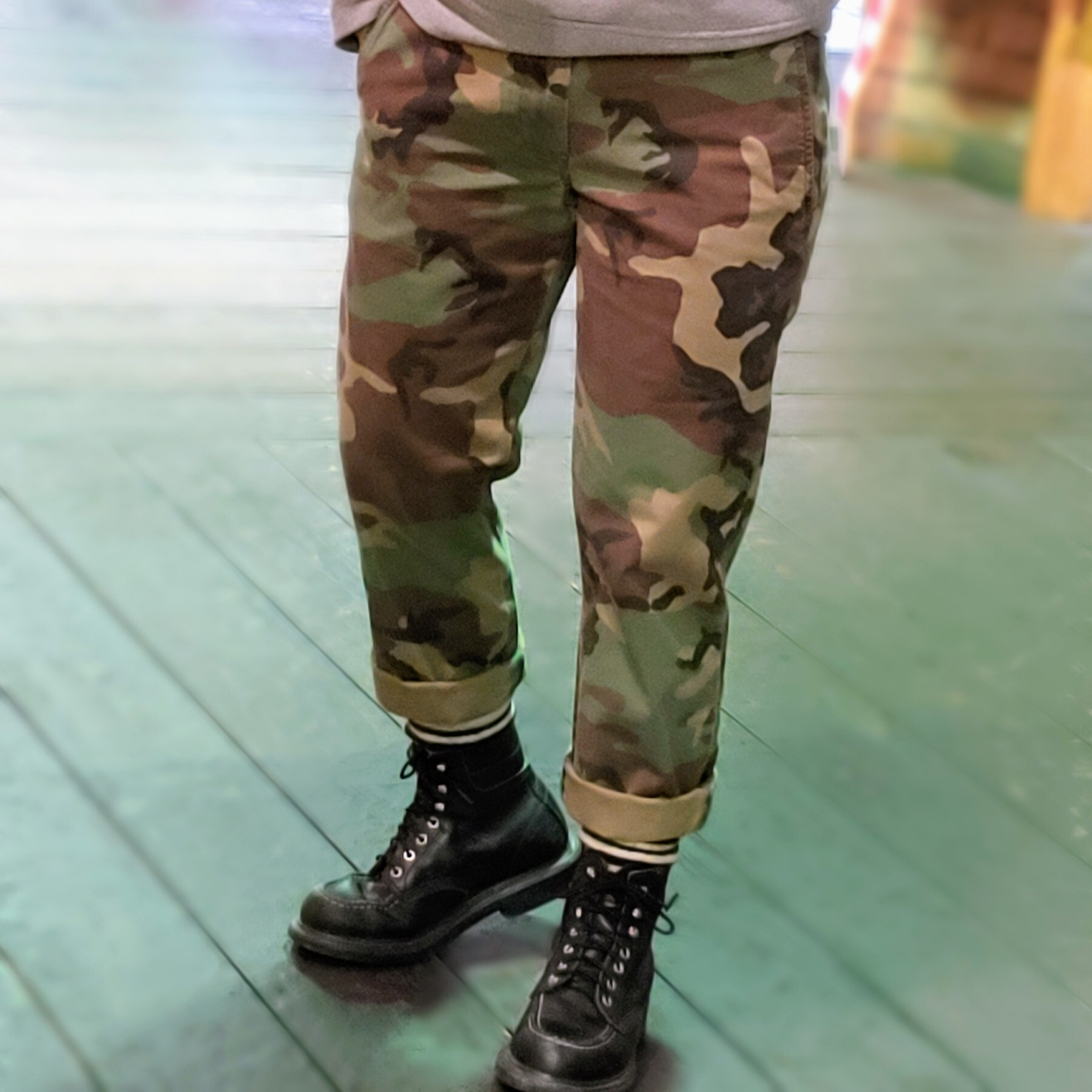 Ralph Lauren STRETCH CHINO PT CAMOUFLAGE
