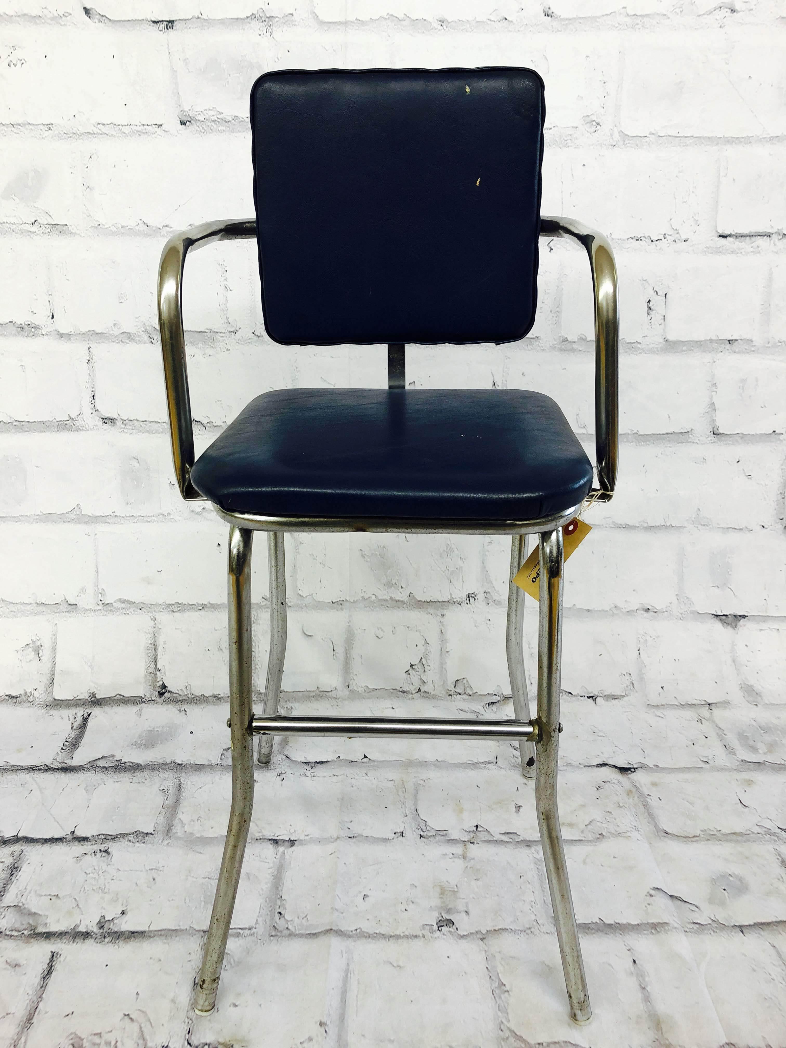品番1669 ハイチェア インダストリアル ブラック 椅子 インテリア アンティーク
