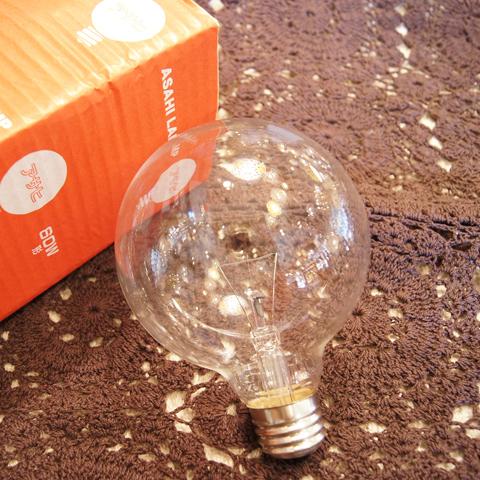 白熱電球 E26 60W ボール球クリア
