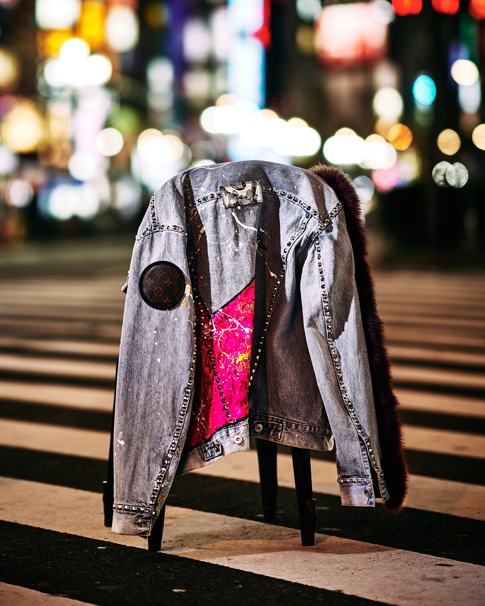Far custom denim jacket