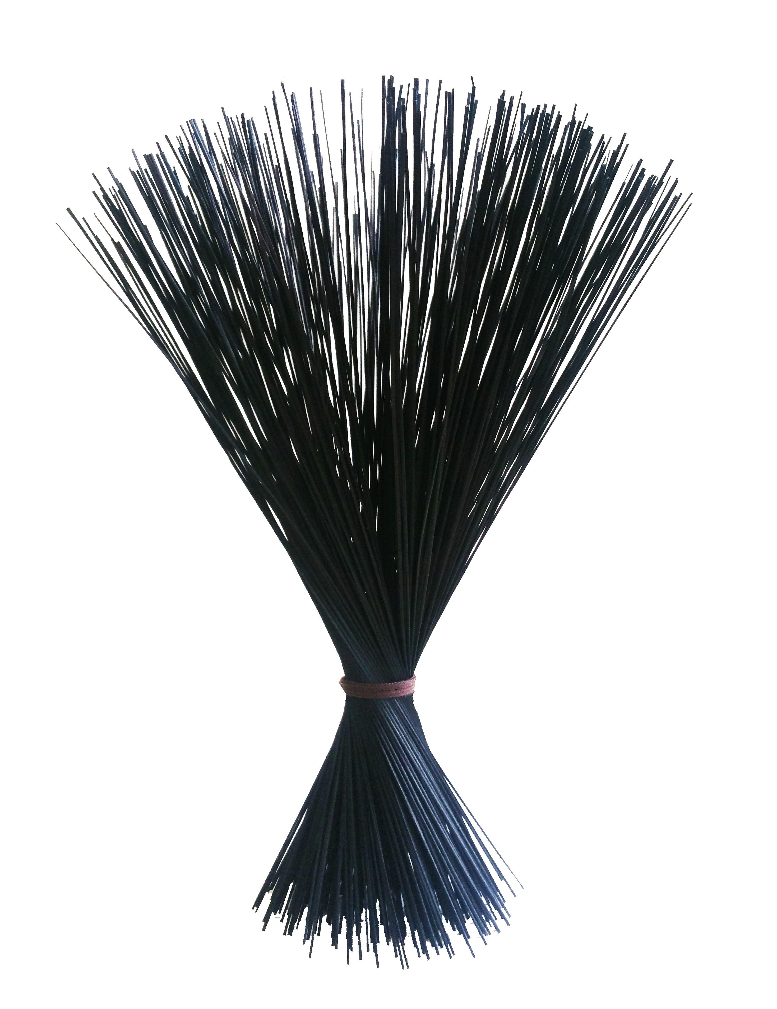【イ草フラワー ブラック】Rush Grass Flower BLACK 35cm