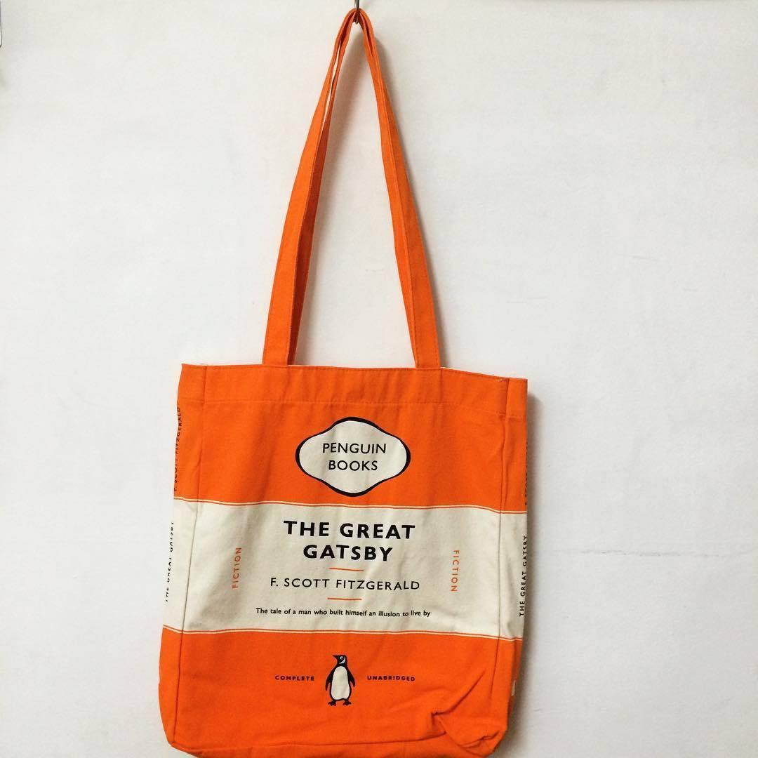 「ペンギンブックス トートバッグ グレート・ギャツビー/F・スコット・フィッツジェラルド」 - 画像1
