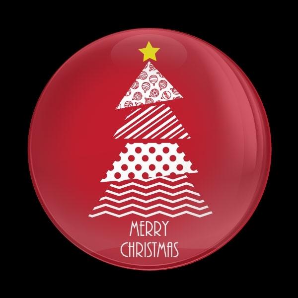 ゴーバッジ(ドーム)(CD1053 - Seasonal CHRISTMAS TREE) - 画像1