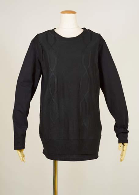 kiida 前身頃ニットTシャツ KUD26-T518 BK/MM