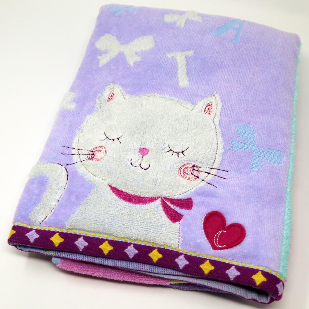 猫バスタオル(ふわふわキャット)