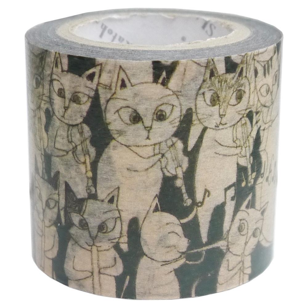 猫マスキングテープ(猫のオーケストラ)幅42mm
