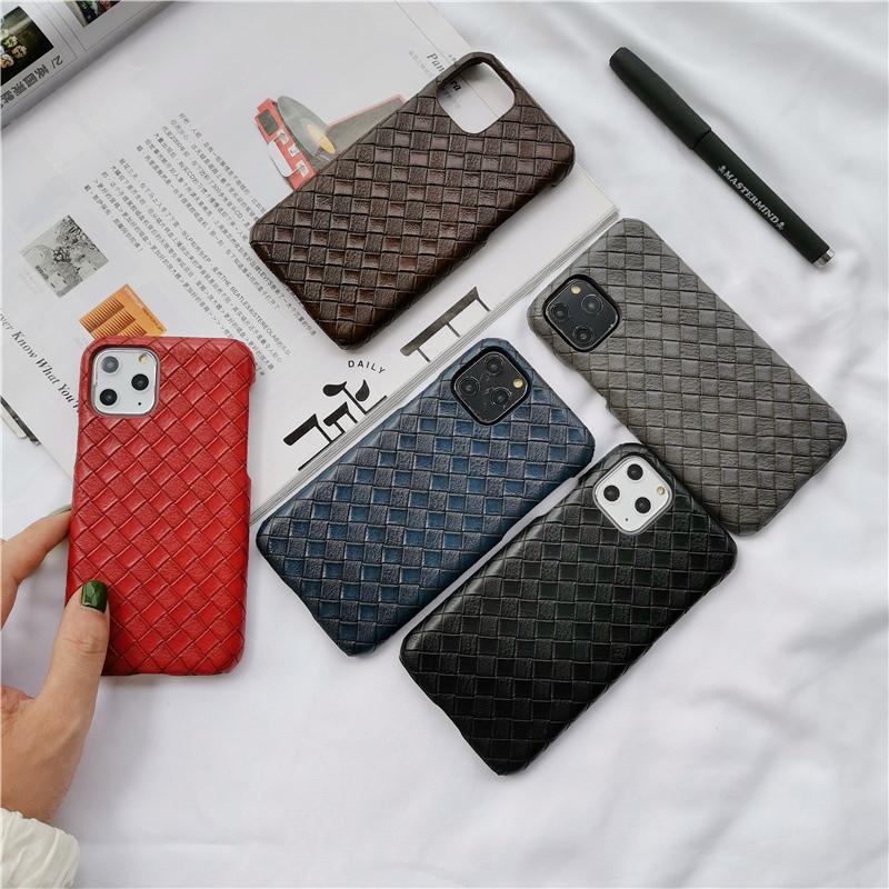 【お取り寄せ商品、送料無料】5カラー 織り柄 レザー調 ハード iPhoneケース iPhone11