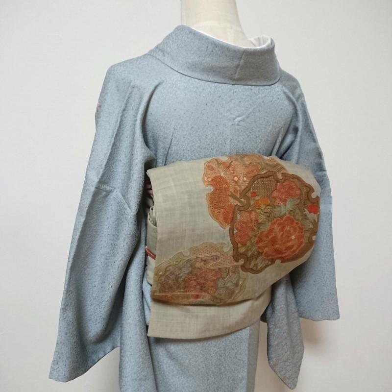 スワトウ刺繍の洒落袋帯
