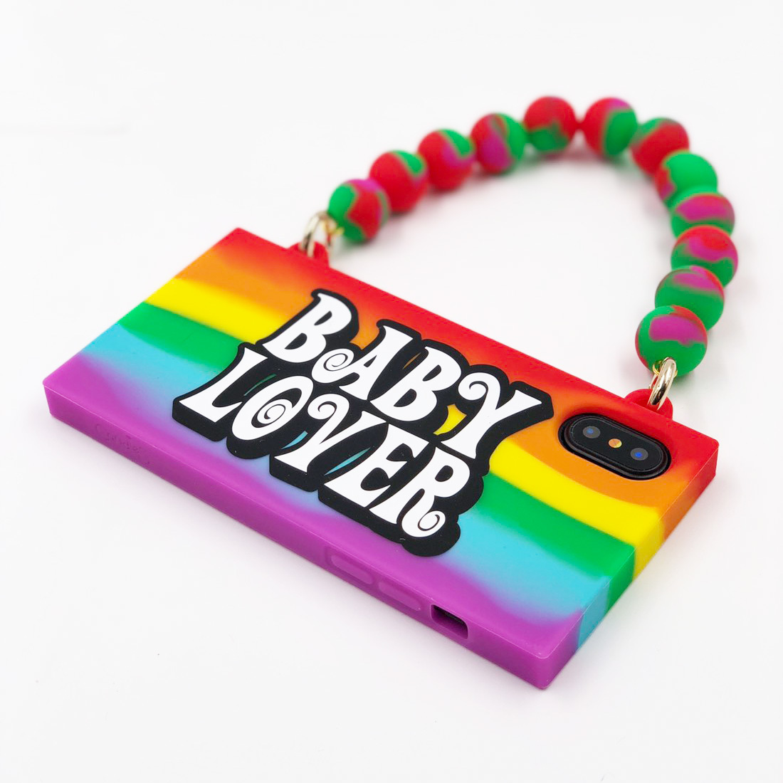 "RAINBOW HANDBAG CASE ""BABY LOVER"" for iPhoneXS/iPhoneX"