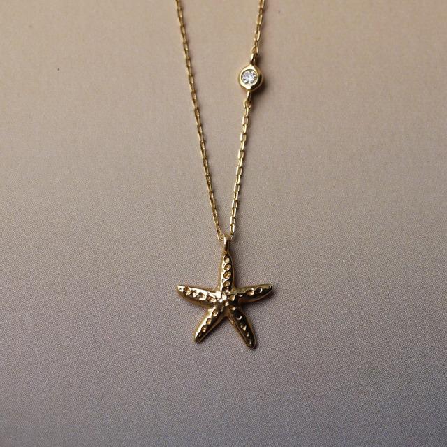 Starfish K18YG ダイヤモンドネックレス