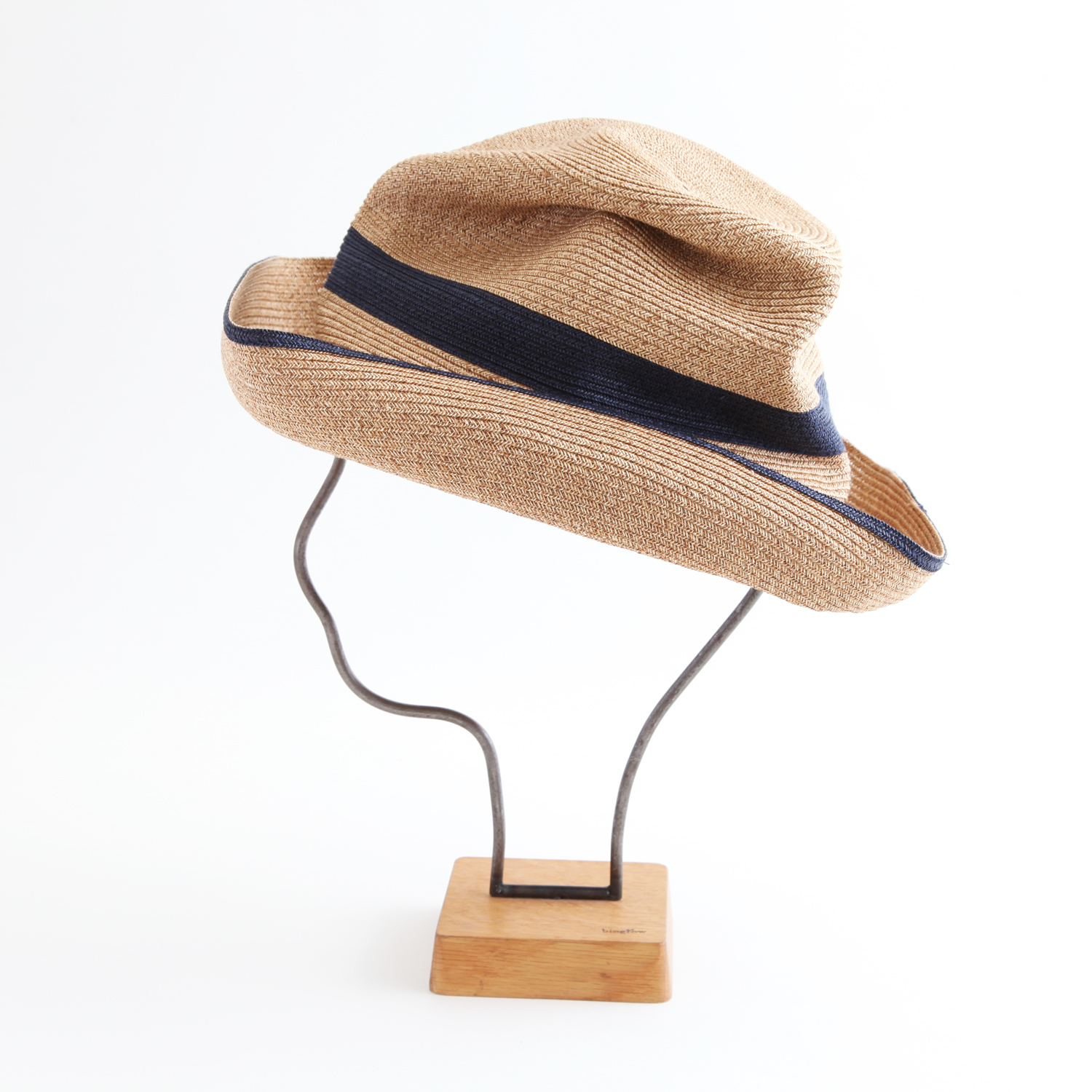 mature ha./BOXED HAT 101SWW mixbrown×navy