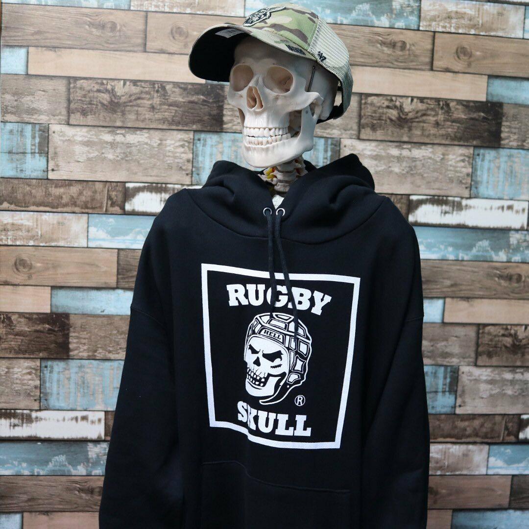 【YBC】RUGBY SKULL Big Logo Pullover Hoody Black