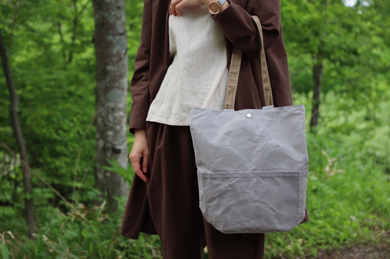 【限定受注品】帆布リュックバッグ/2way グレー