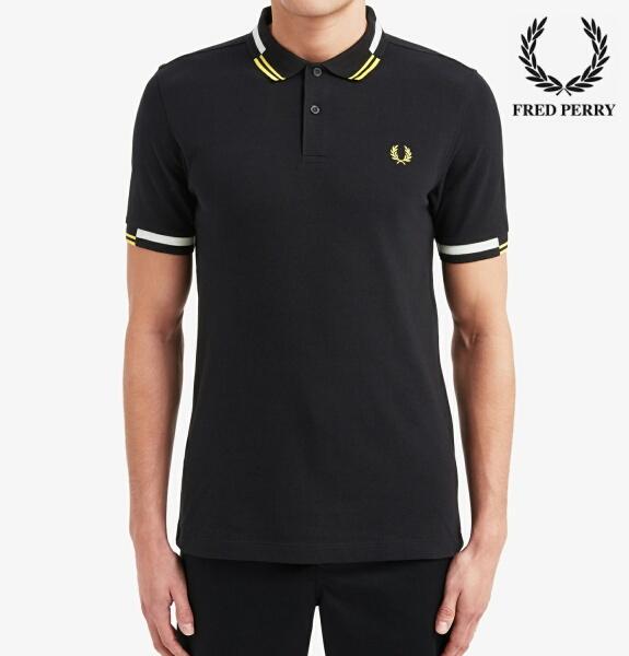 フレッドペリー ポロシャツ メンズ Fred Perry ABSTRACT TIPPED POLO SHIRT M8551 BLACK 正規販売店