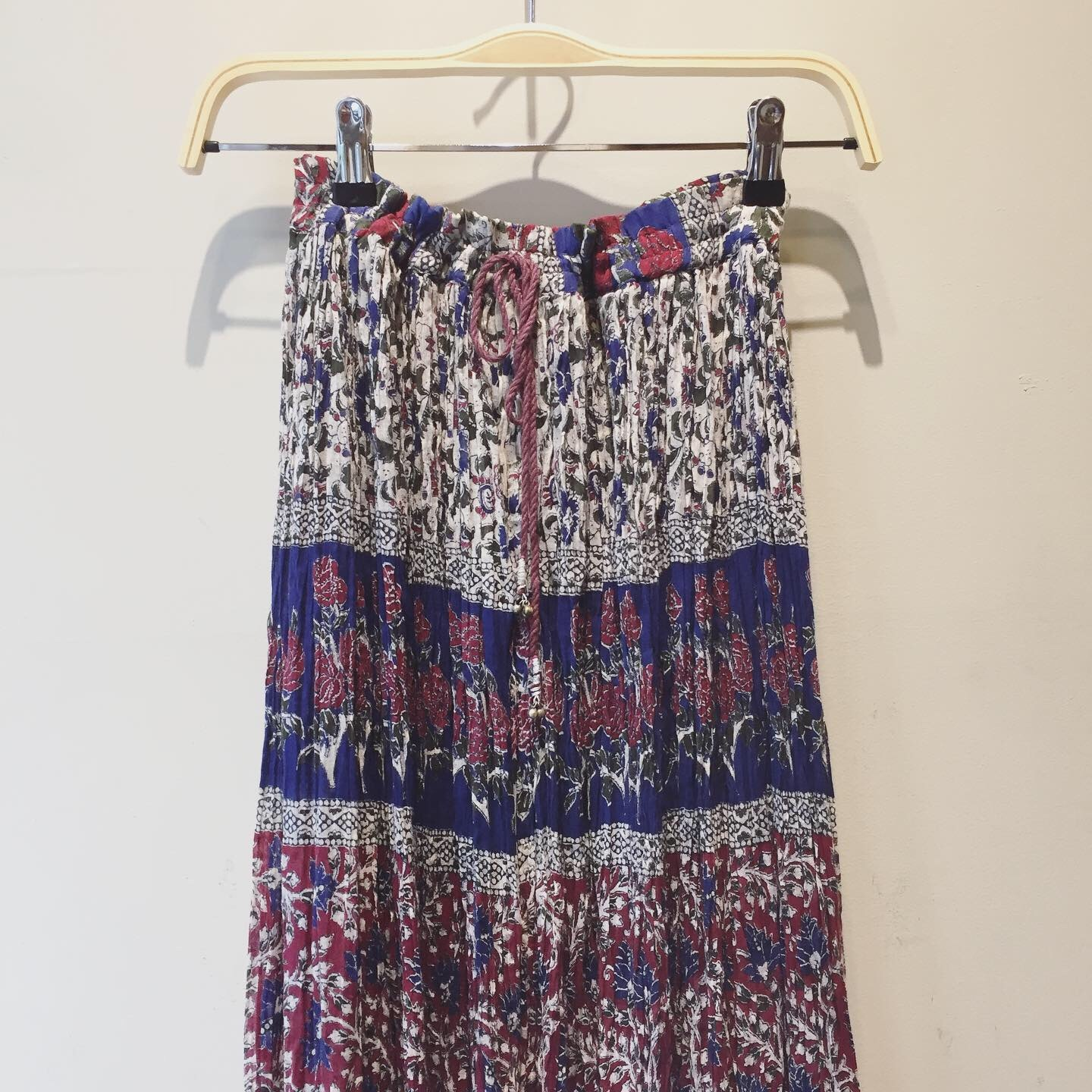 vintage flower indian cotton skirt