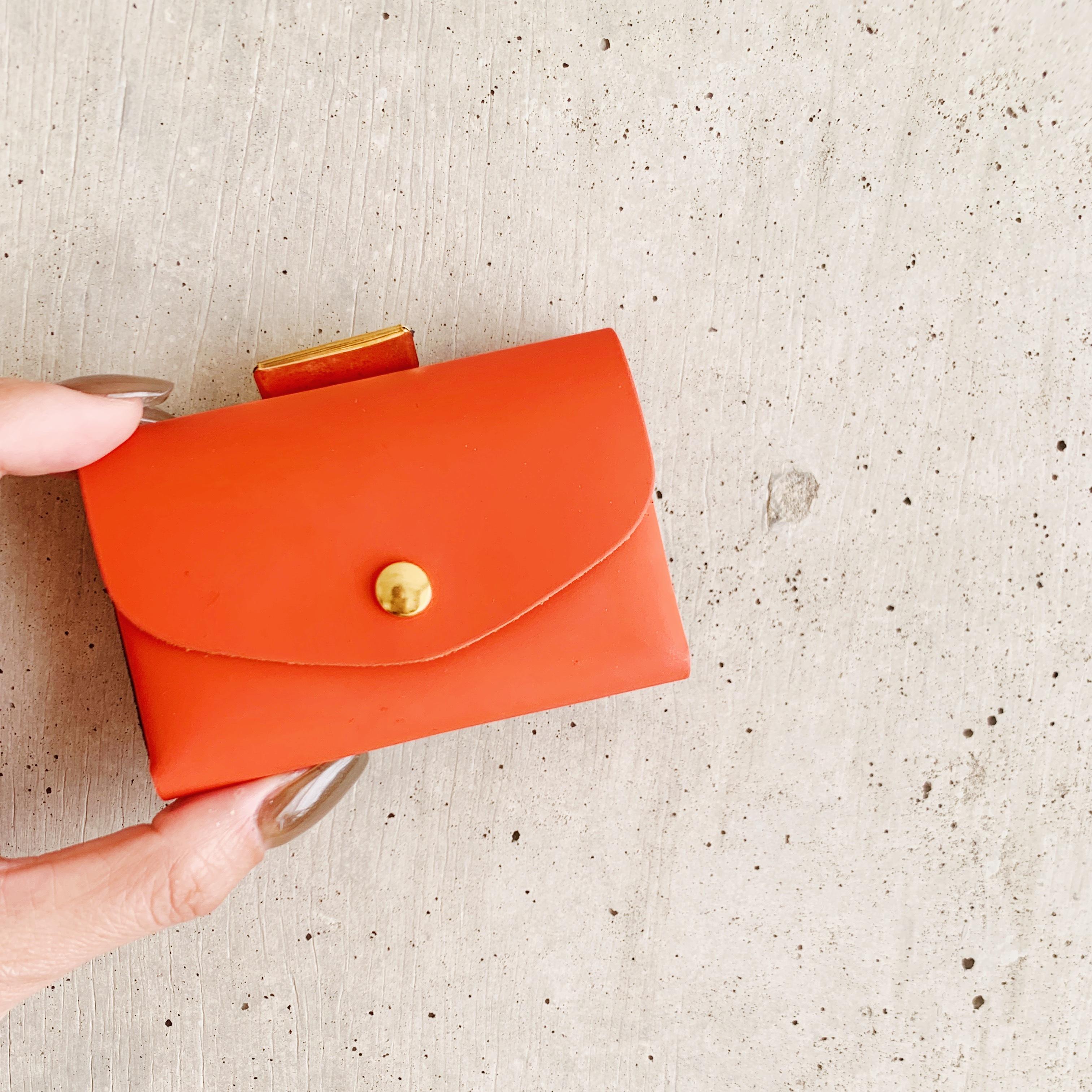enrich everyday × com-ono Everyday TINY Wallet/ORANGE × BLUE(オレンジ × ブルー)