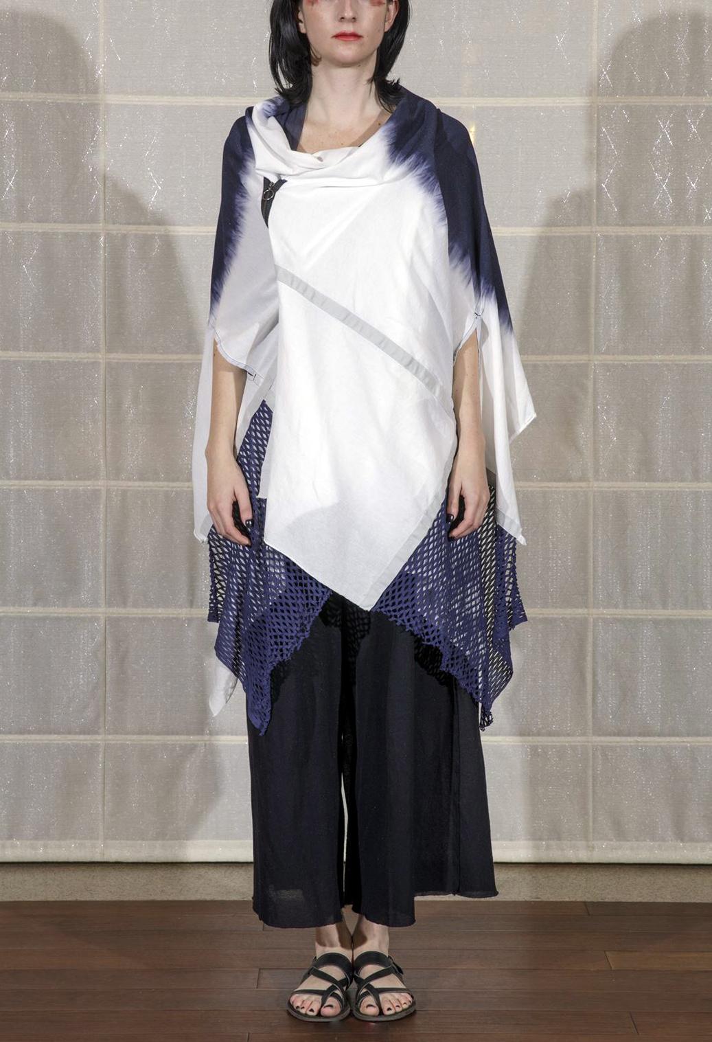 [着るストール]HAORI ANGEL ハオリエンジェル【COTTONコットン】 moon NAVY 202010[送料/税込]