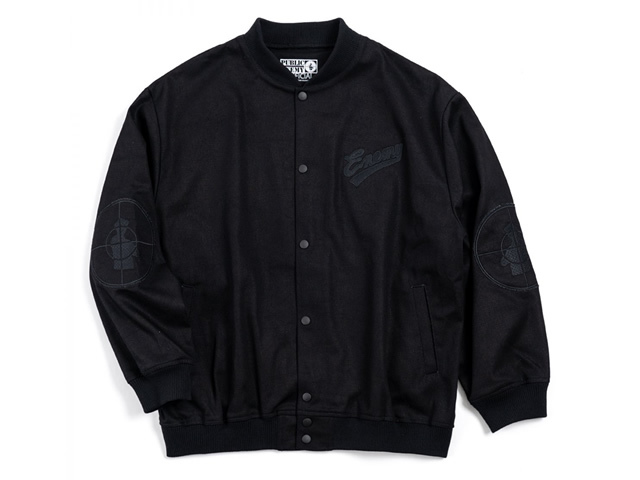PUBLIC ENEMY x INTERBREED|Blackout PE Varsity Jkt / Black
