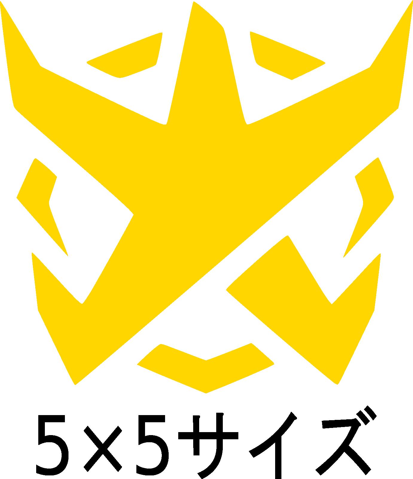 BADFALLロゴステッカー 黄5