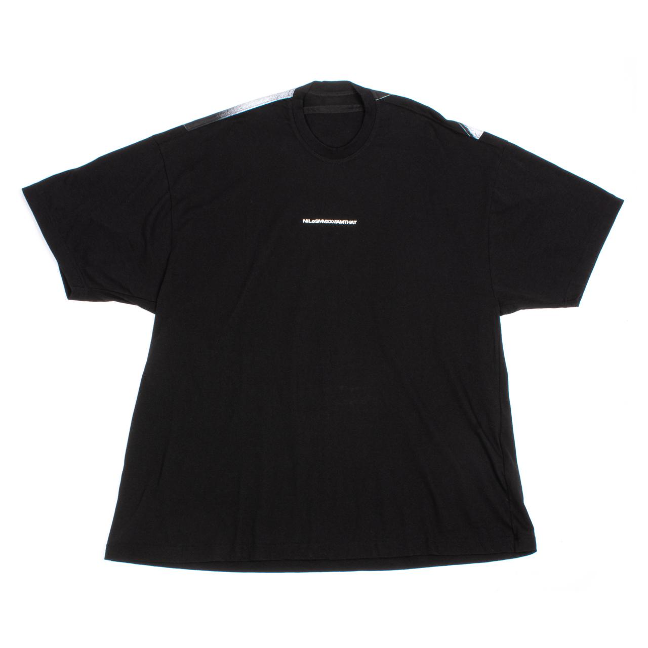 720CPM5-BLACK / オーバーサイズ バックプリント Tシャツ