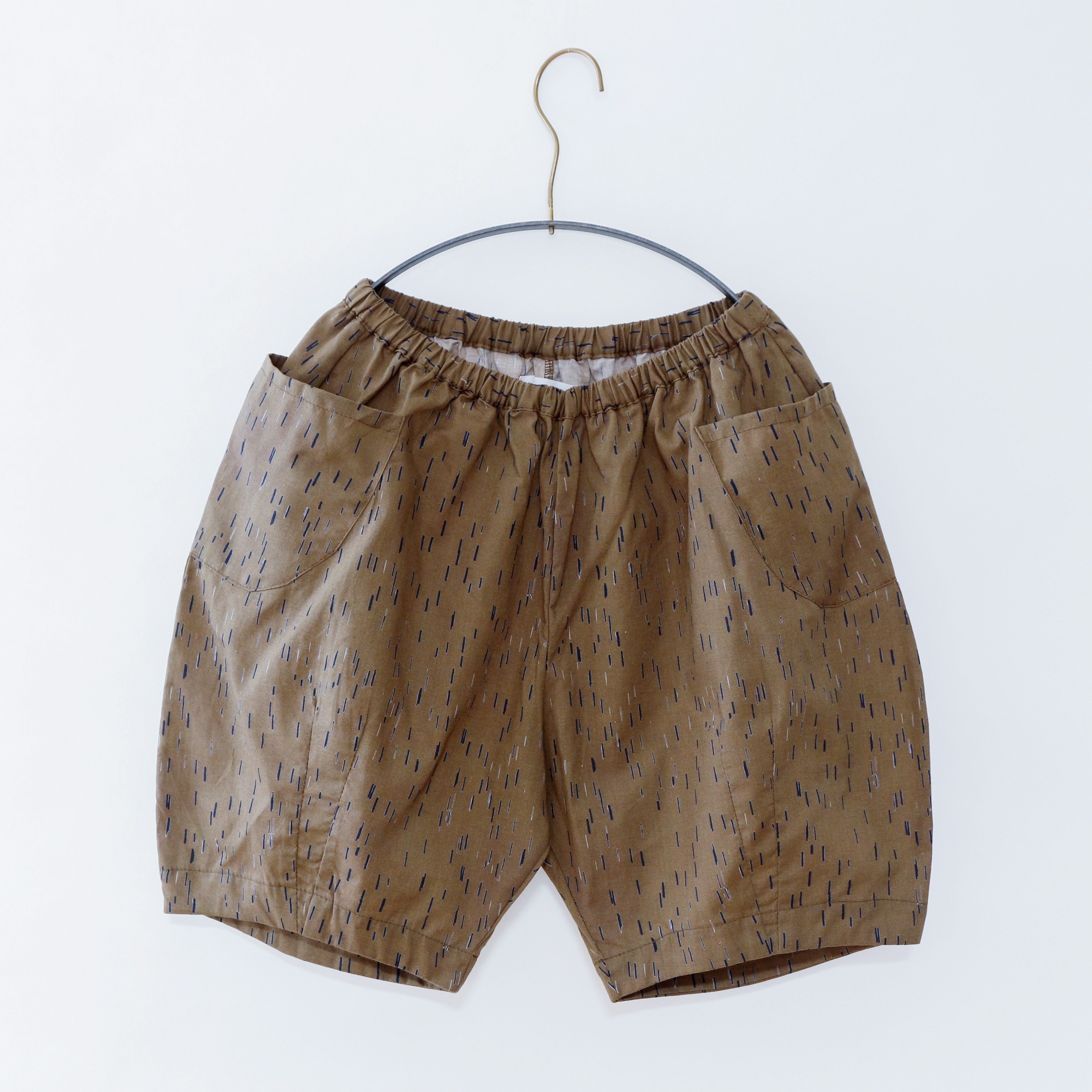 《michirico 2020SS》Outside pocket half pant / mocha / S・M