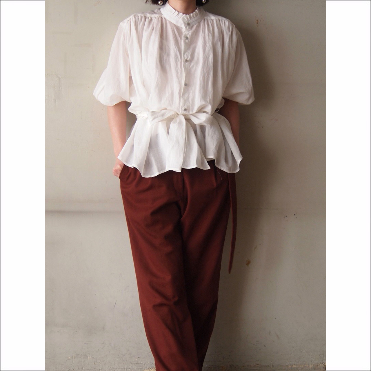 【hippiness】gather blouse/【ヒッピネス】ギャザー ブラウス