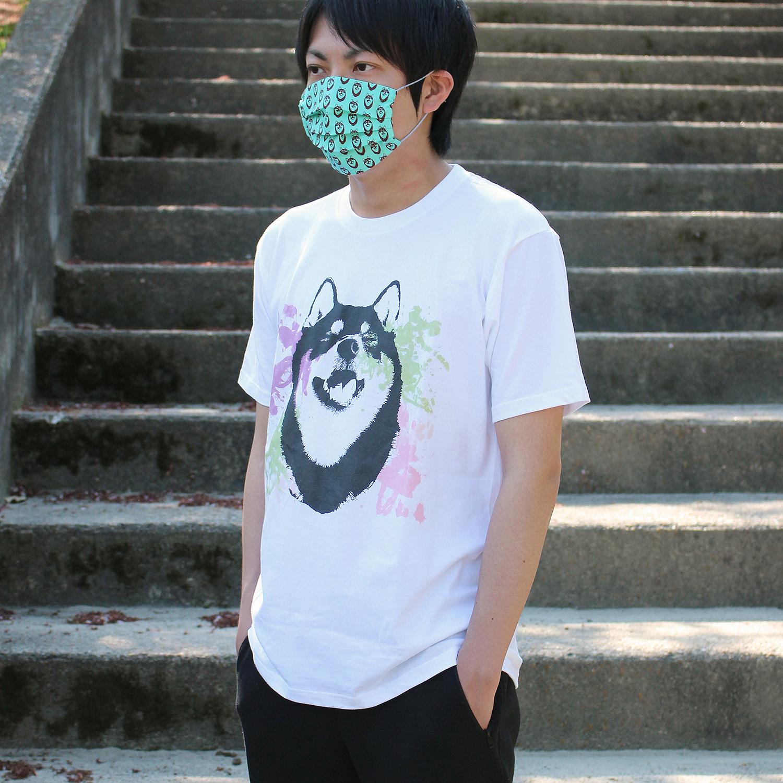 [受注] 水彩アートな柴犬半袖Tシャツ<男女兼用Lサイズ>