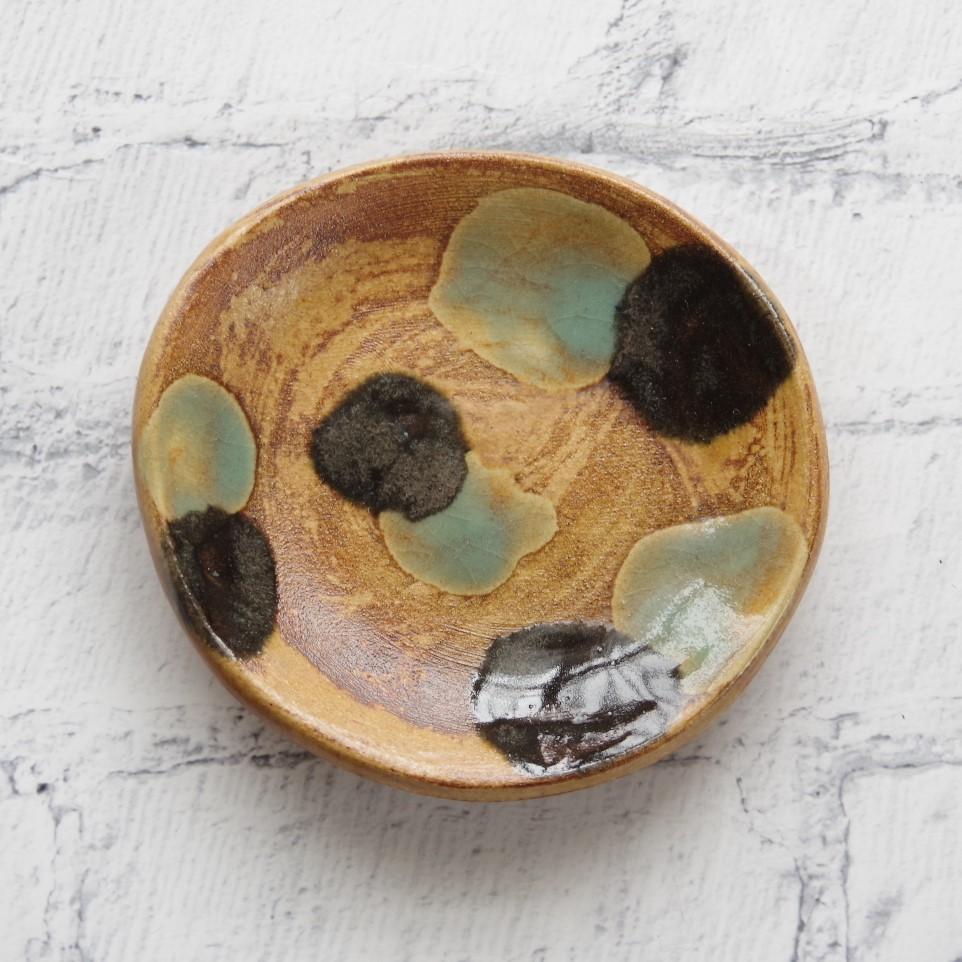 やちむん【土工房陶糸】3.5寸皿