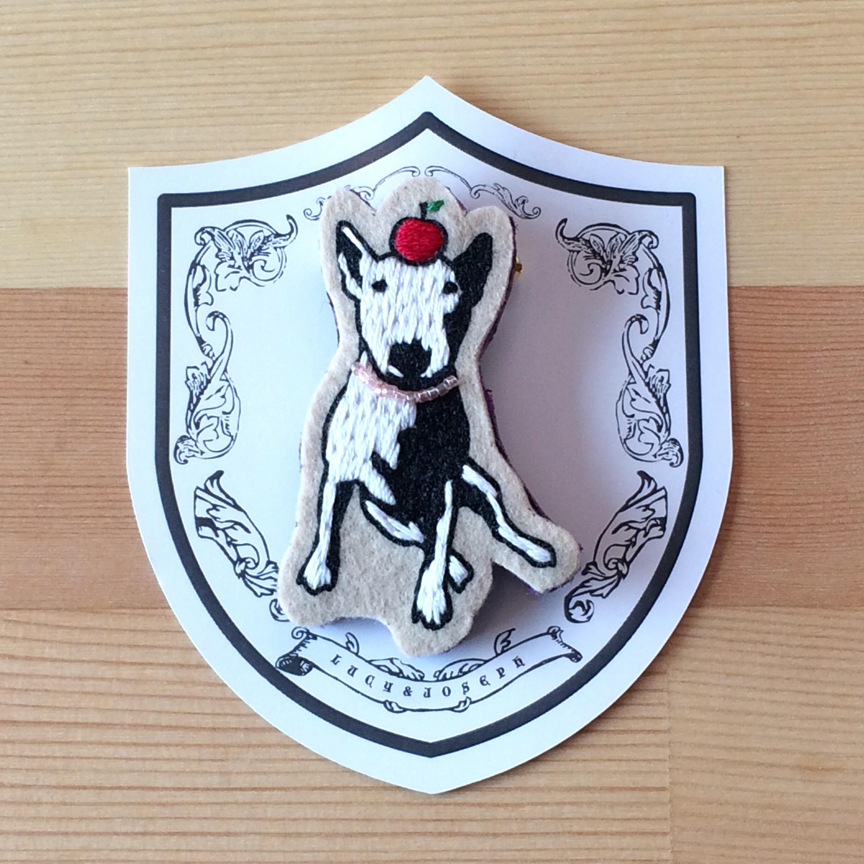 ブルテリア犬ブローチ【LUCY & JOSEPH】