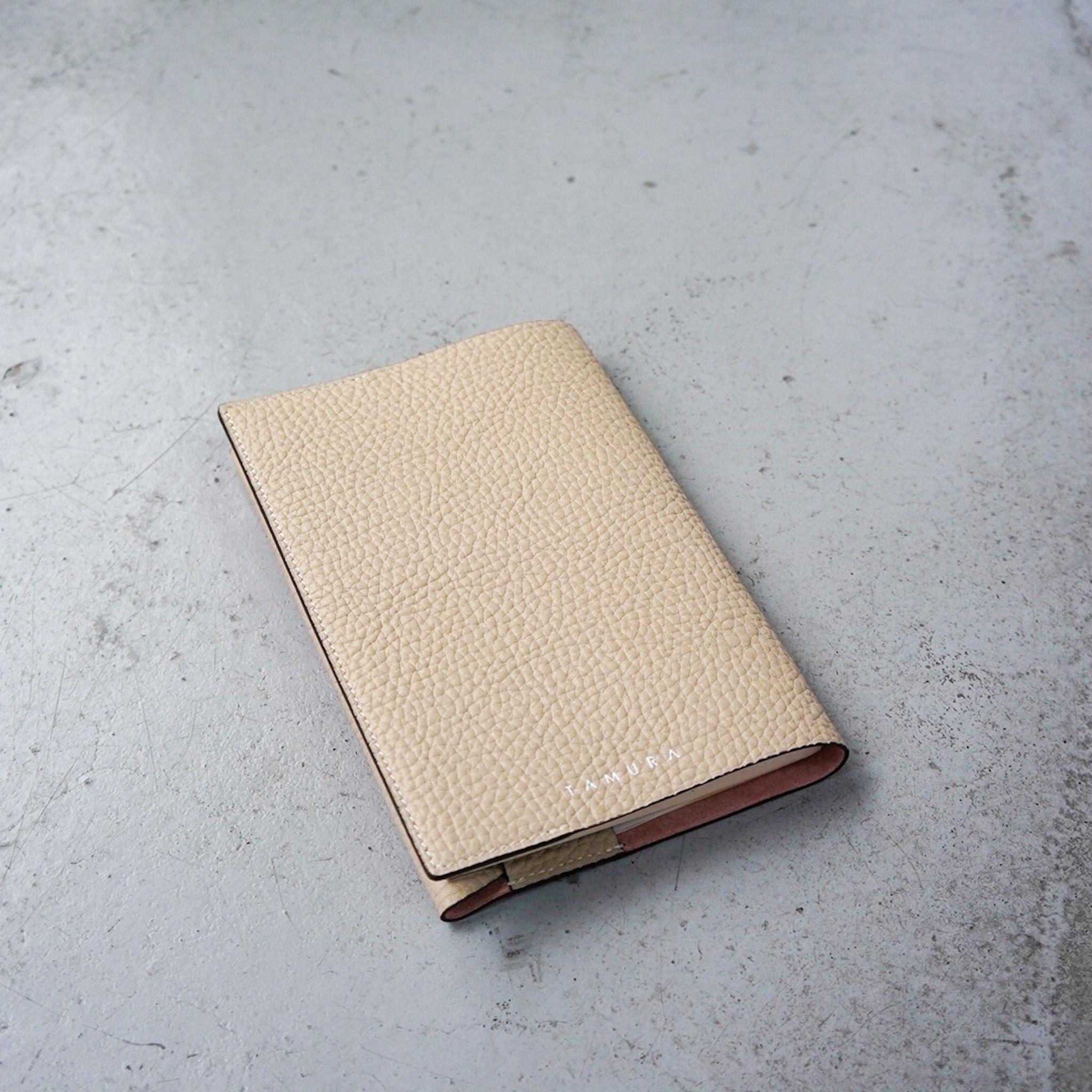 BOOK COVER(文庫サイズ)ベージュ × ピンク