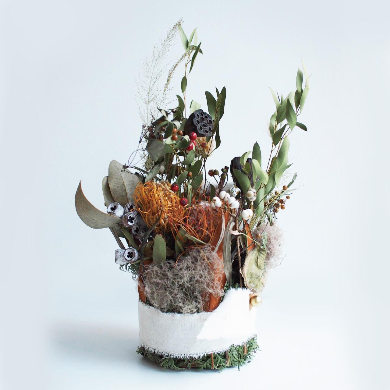 六花rocca 「ドライフラワーアレンジメント 冬の森」