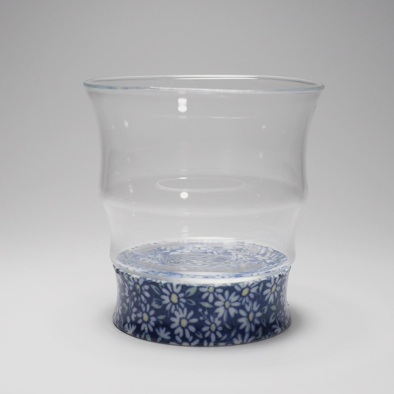 ロックグラス (青小菊) 20-312