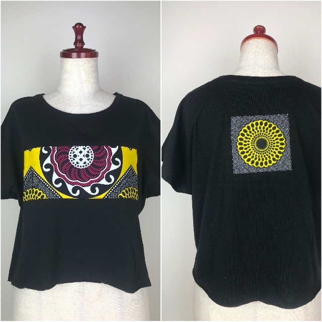 パッチワークドルマンTシャツ08