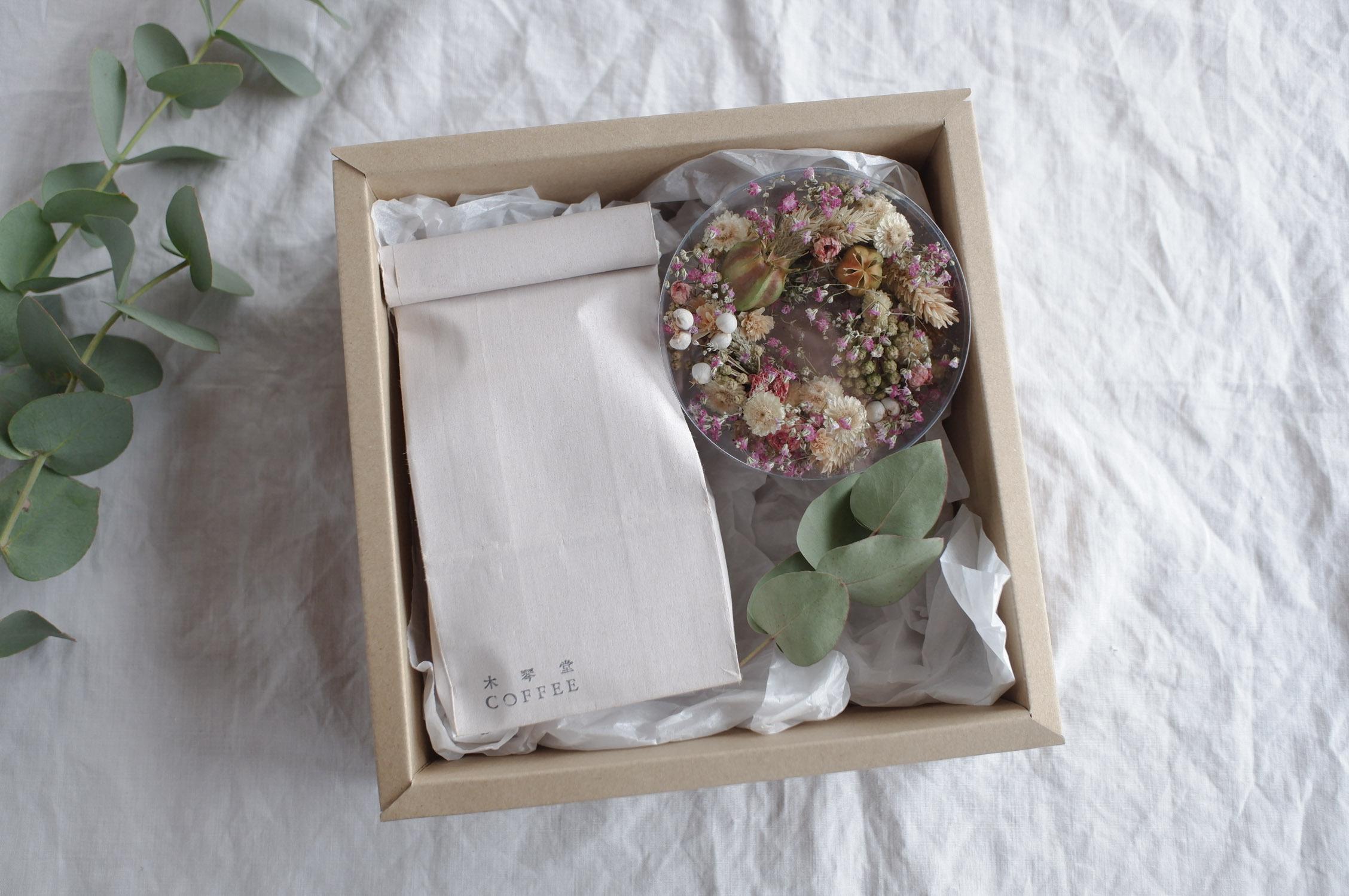 夏の贈り物 BOXセット《 水出しアイスコーヒーパック・小さなリース 》