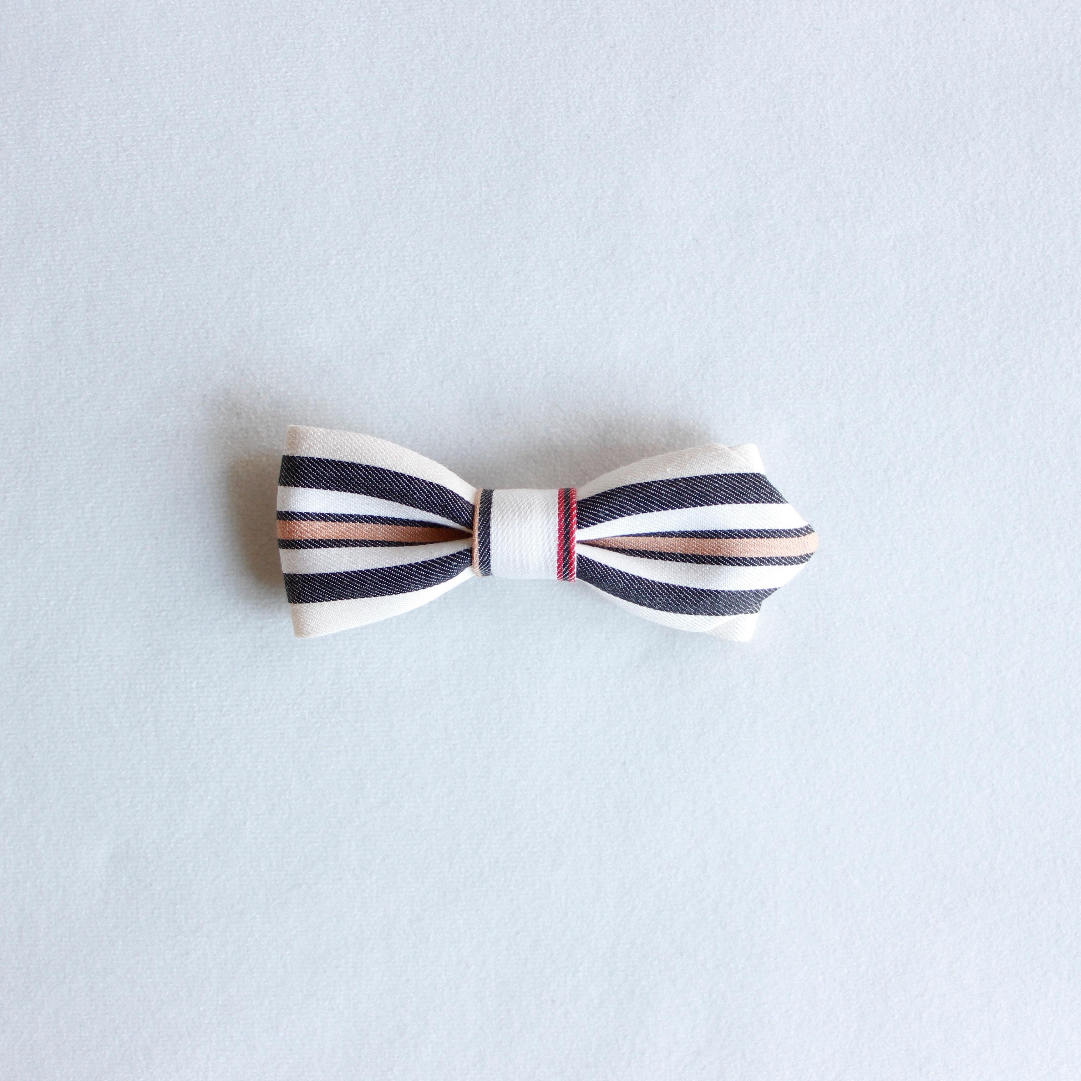 《eLfinFolk 2020SS》regimen stripe bow tie / ivory