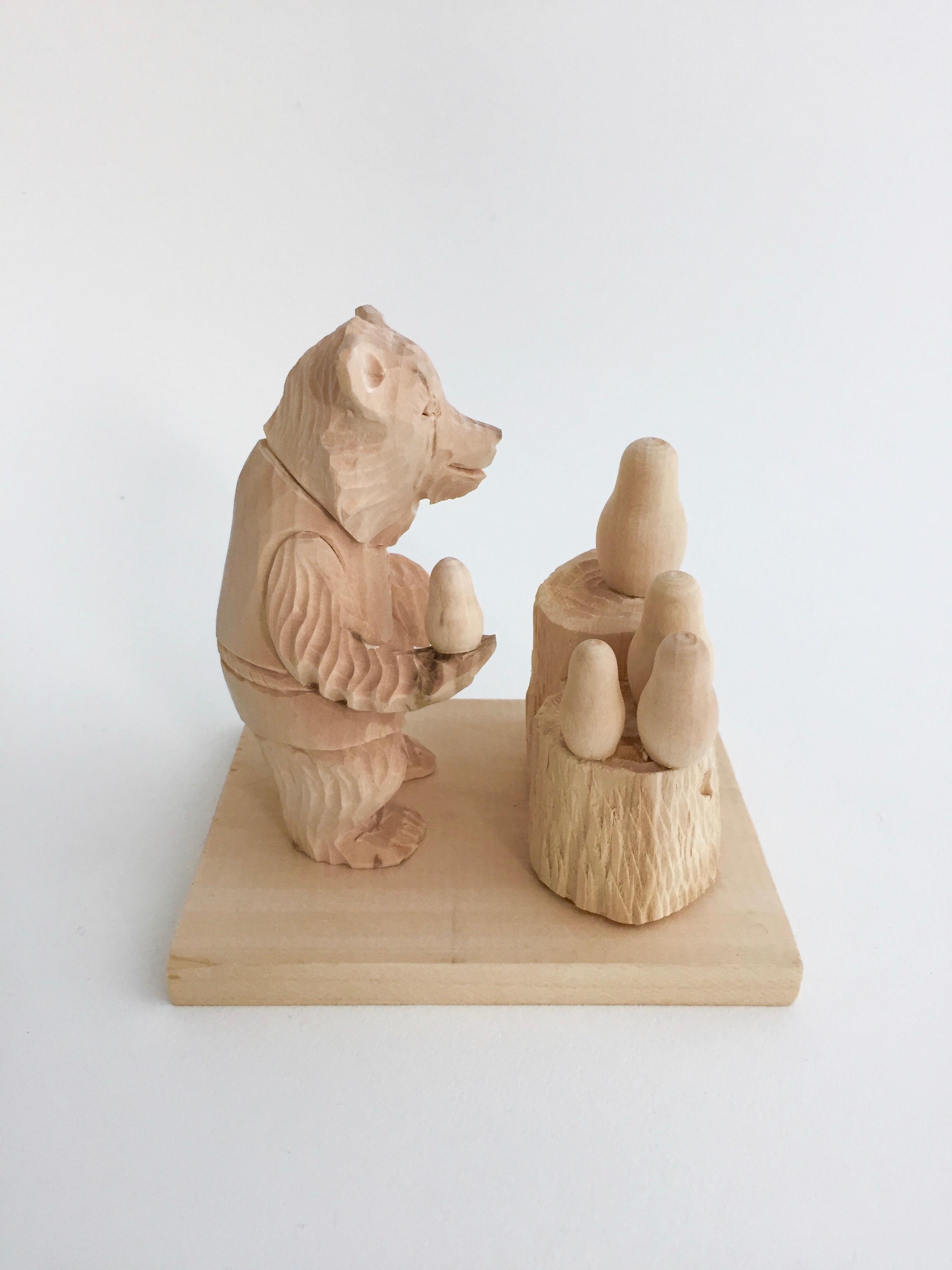 ボゴロツコエ木地玩具「クマのマトリョーシカ売り」※特徴あり!