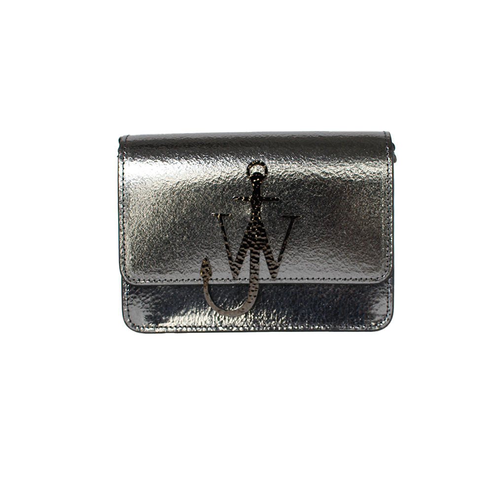 JW ANDERSON Leather Shoulder Bag Silver