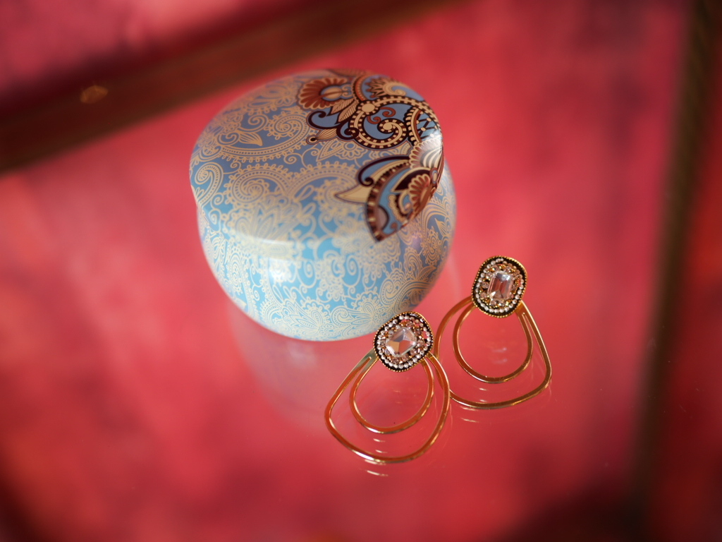 aroma candle & earrings
