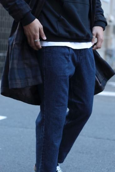 edit clothing Denim Pleat tapered pants(デニムプリーツテーパードパンツ/ブルーウォッシュ)
