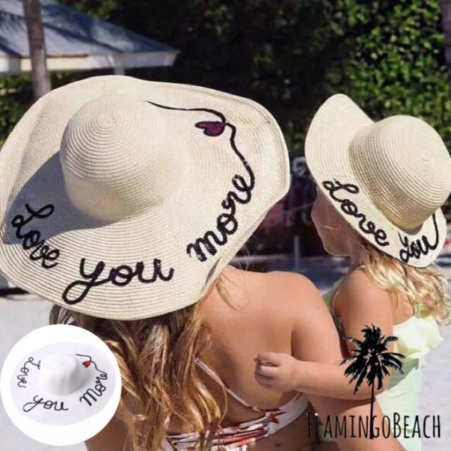 【FlamingoBeach】mama&kids hat ペア ハット