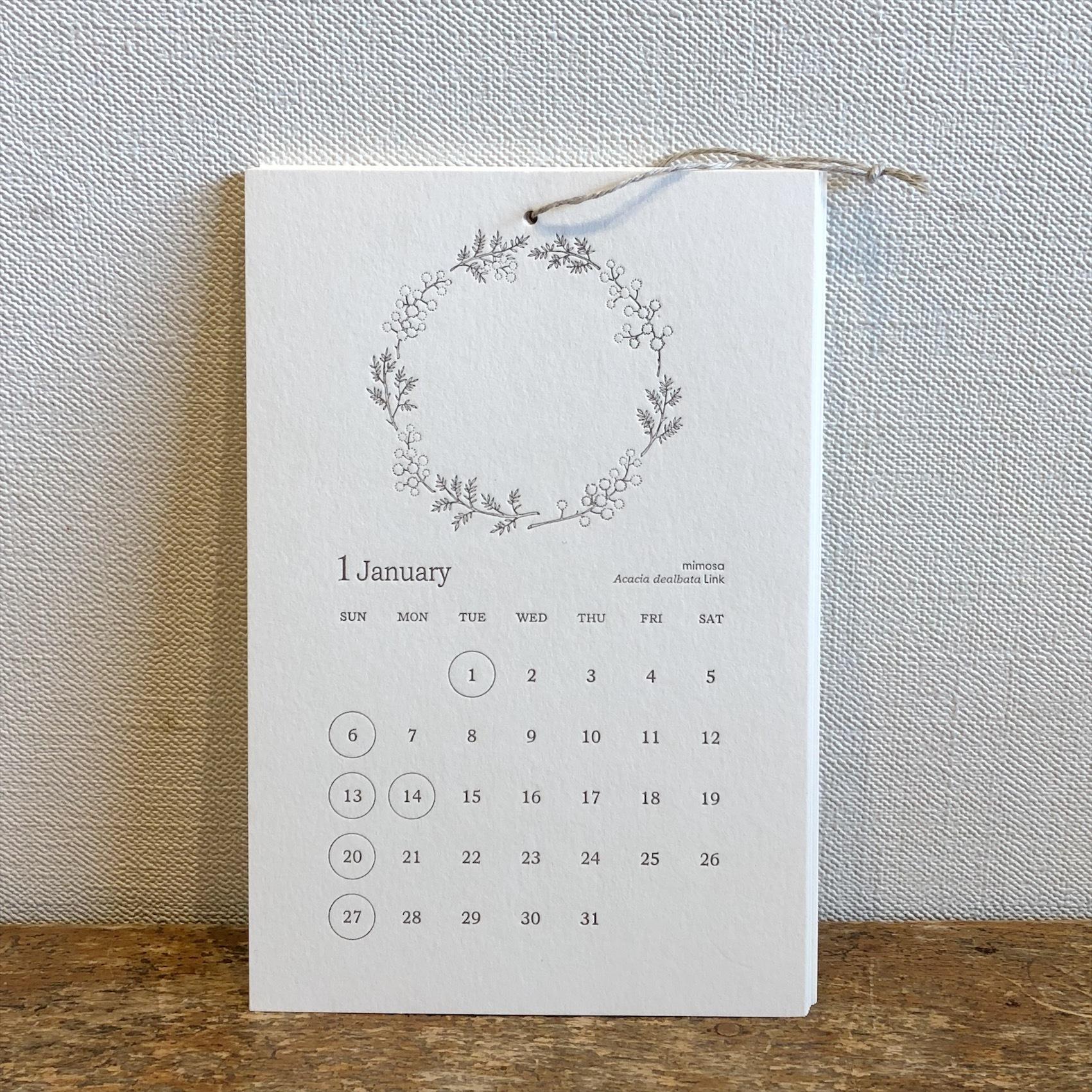 2019ボタニカルカレンダー