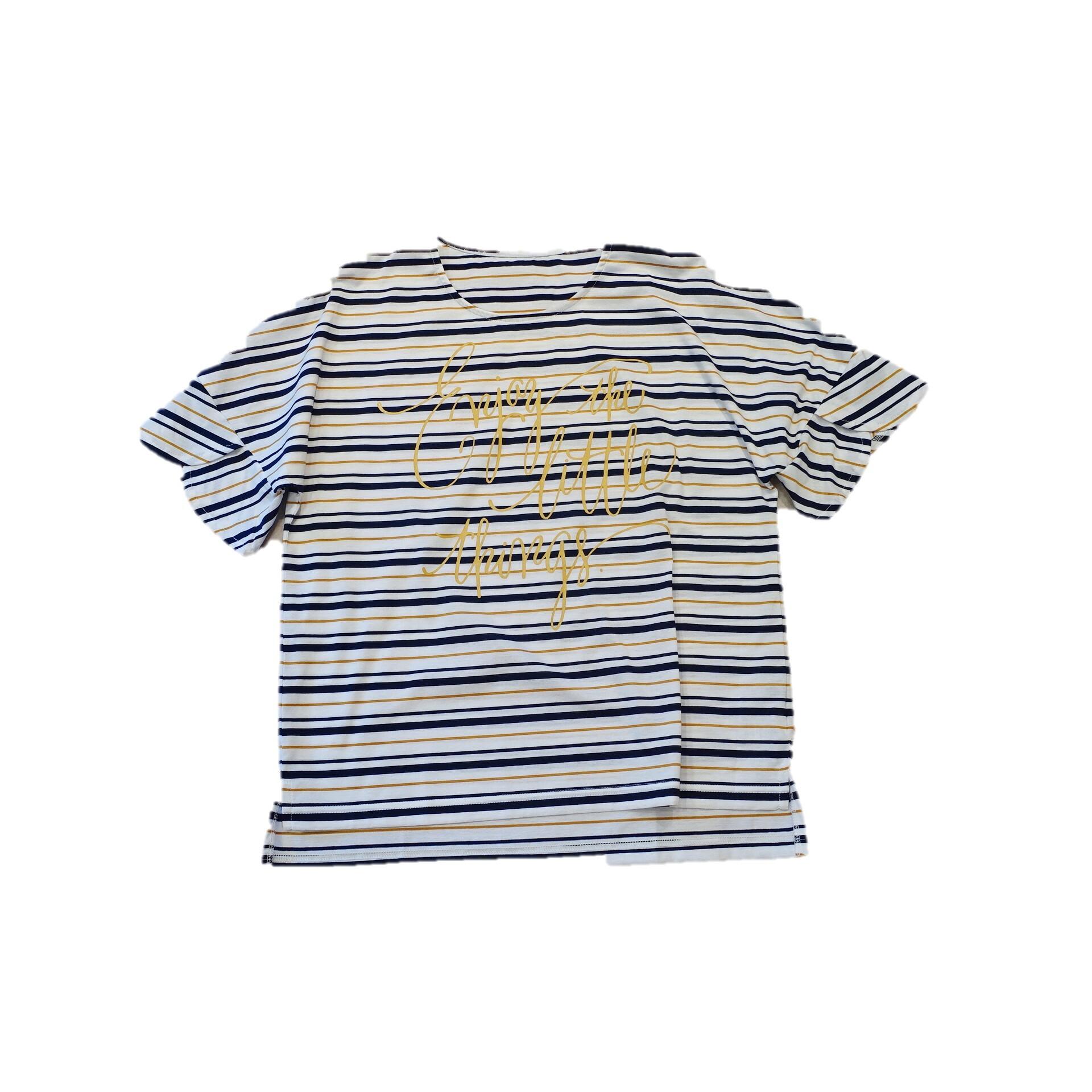 21047   マルチボーダーTシャツ/ホワイト